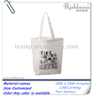plain white cotton canvas tote bag wholesale