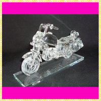 Handmade Unique Crystal Glass Motorcycle Model For Business Gifts