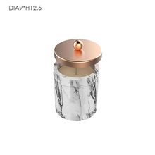 Hot sale Marble style unique candle jar or container decorative concrete candle jar with metal lid