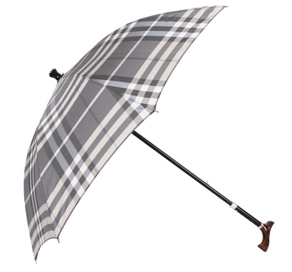 Wholesale Wooden Handle Old Man Hard Walking Stick Umbrella