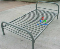Strong metal frame structure steel tube single or double beds