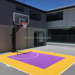 PP Synthetic Interlocking Outdoor Portable Sports Floor removable basketball court sports flooring