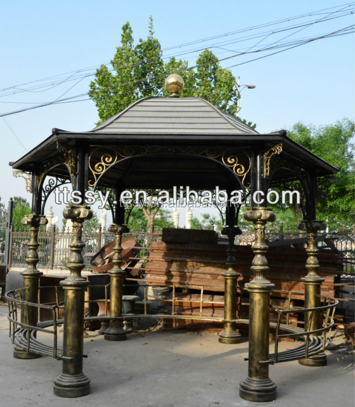 Chinese style cast iron gazebo decoration