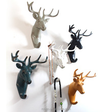 Handmade good quality resin deer decoration funky antique wall key hook