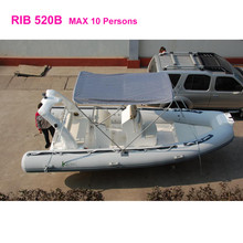 Chinese supplies rib rigid pvc 10 people inflatable boat motor