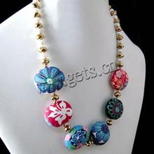Polymer Clay Other Shape Pearl Crystal Dangle Earrings 449449