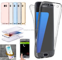 Newly 360 degree TPU Case For Samsung s7 Edge Front+Back Full Cover Case