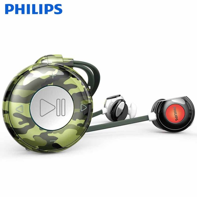 Philips 8GB Chip MP3 Player With FM Radio Wireless Headphone OLED