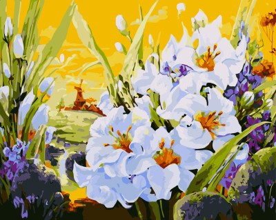 GX 7646 flower diy oil painting canvas for home decor