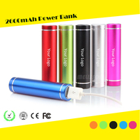 2015 wholesale gift items of moblie charger power bank metal case power bank 2200mah