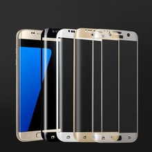 High Quality 9H 3D 0.33mm Full Covered Curved Tempered Glass Screen Protector for Samsung Galaxy S7 Edge