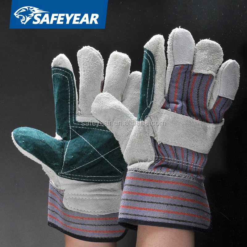 China SAFEYEAR free sample buffalo leather work glove EN388 707 style