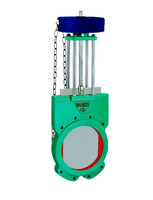 Chain Wheel Rising Stem Knife Gate Valve