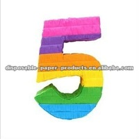 Wholesale Pinata Number 5 Shaped, DIY Number Pinata,Kids Birthday Party Goods products partyware