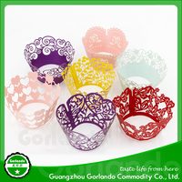 Colorful Lace Cupcake Wrapper Liner For Wedding and Party