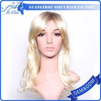 Fashion hot selling synthetic party wigs blonde hair bun synthetic hair wig