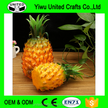 2016 new product Artificial Mini Pineapple - Plastic Decorative Fruit Yellow Pineapples Fake