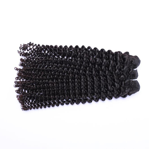 8a grade 100% human Tangle Free Double Drawn Natural Black Color 9A Virgin Brazilian Kinky Curly Hair weave Bundles