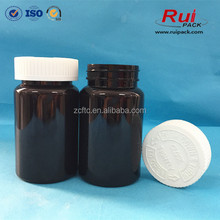 120ml amber PET bottle for tablets / child proof medicine container / FDA plastic pharmaceutical soild bottle