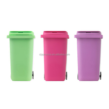 Customized Printed Cute Min Trash Rubbish Recycle Can Bin Pen Pencil Holder