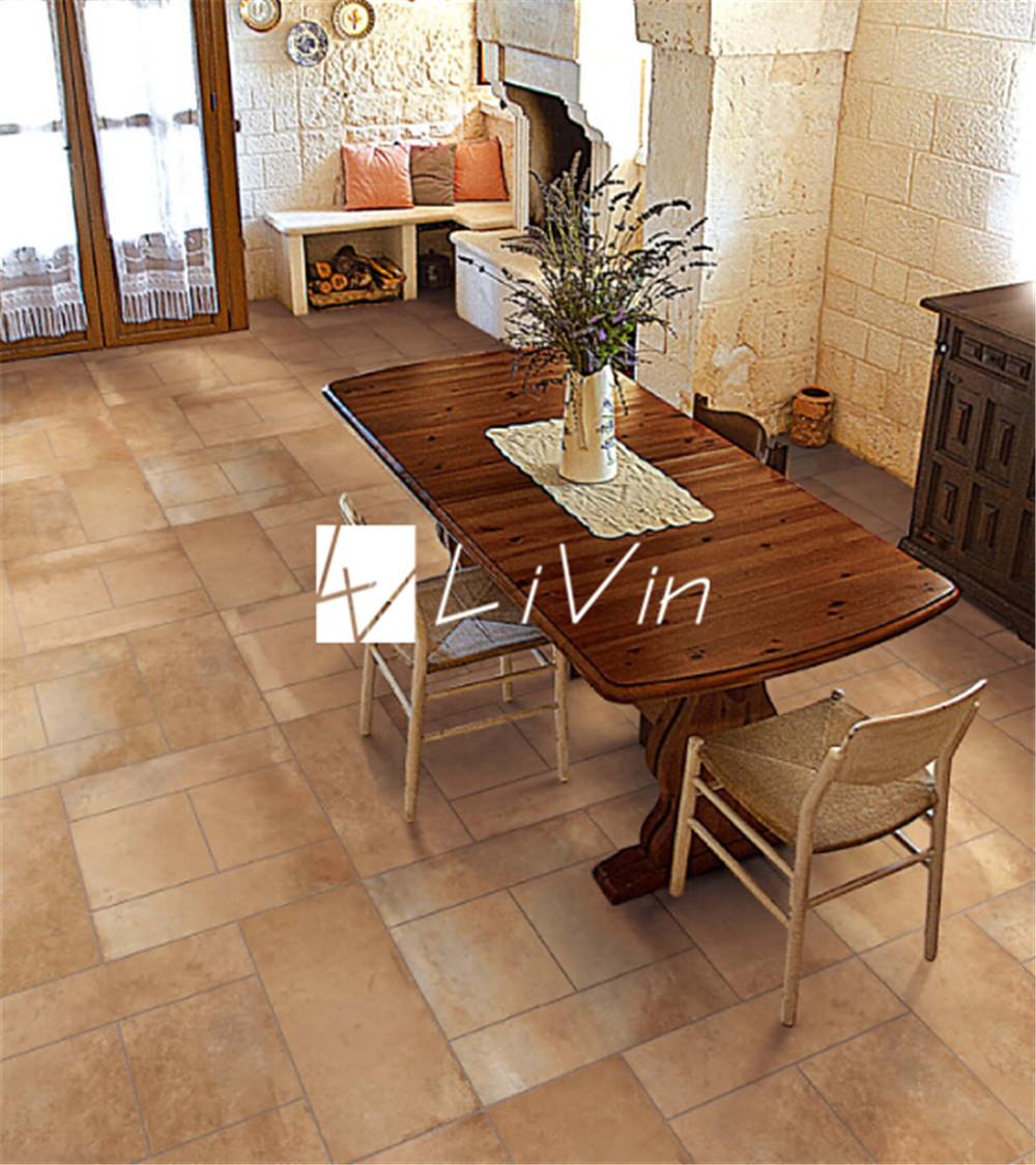 Cemento marr n azulejo para piso lvf6622 alicatados - Azulejos rusticos para patios ...