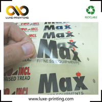 Printed Clear Polyester Sticker Labels for Bottle / Food / Apparel /Cosmetic