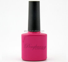 wholesale hot pink gel nail glue container bottle 8ml with plastic cap