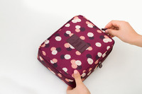 2016 new trendy for ladies Korean style wash bag floral printing clutch bag oxford fabric wash bag for travelling
