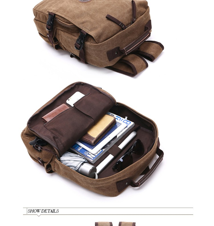 Factory price Vivisecret canvas backpack with laptop pocket canvas laptop school bag in stock