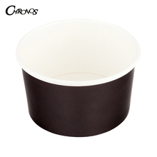 Custom logo printed double pe coated disposable ice cream paper cups / yogurt containers