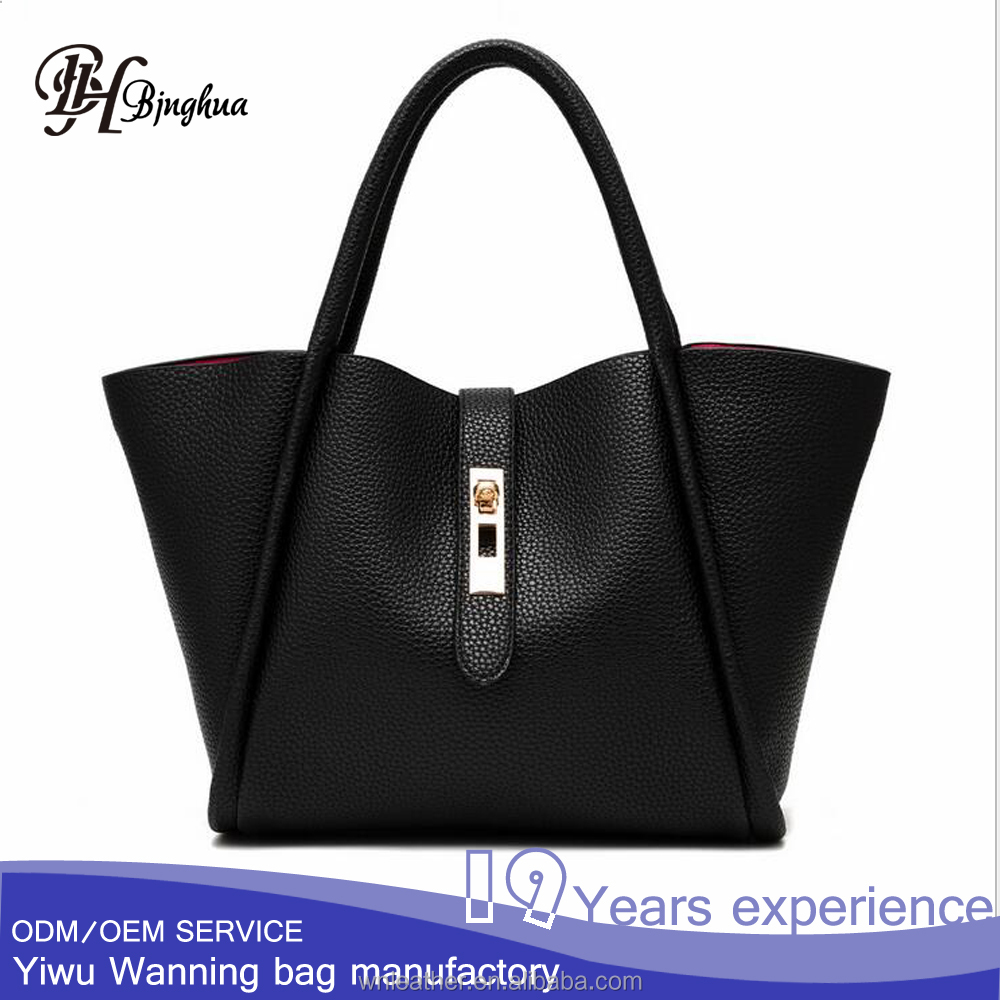 AL-010 Lightweight Women All-match leather Tote Bag Generous Design Handbag Purse
