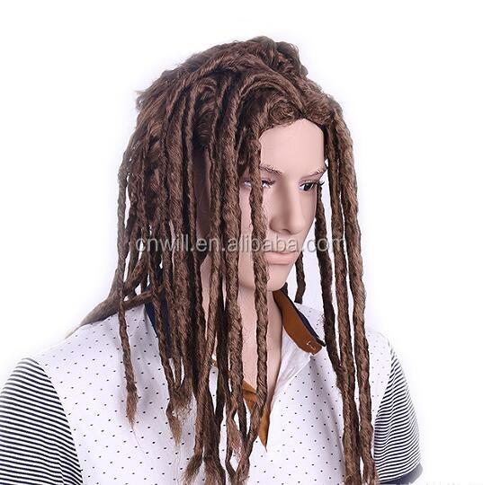 Men Dreadlocks Wig Dreadlocks Rasta Dreadlocks Hiphop Dance Synthetic Cosplay Wig Twist Braids Wig