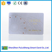 High quality PVC gold or silver embossed number smart card