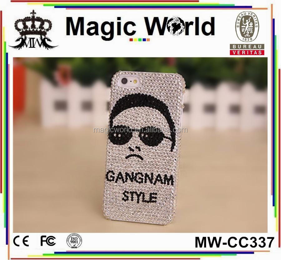 Gangnam Style Phone Case,Rhinestone Cell Phone Cases for Iphone 5s