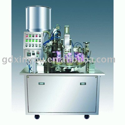 plastic or plastic aluminum tube filling and sealing machine