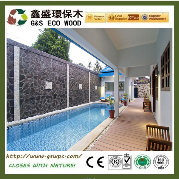 2016 hot sales Outside Water Resistance eco-friendly for Veranda Wpc Decking