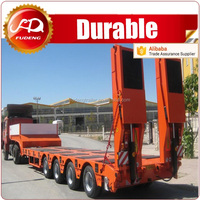 Heavy duty 40-100 tons low bed semi trailer price , dolly semi-trailer