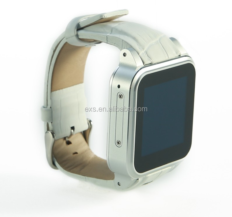 new products 2015 wa8 smartwatch 3g sim wifi in silver with withe wristband