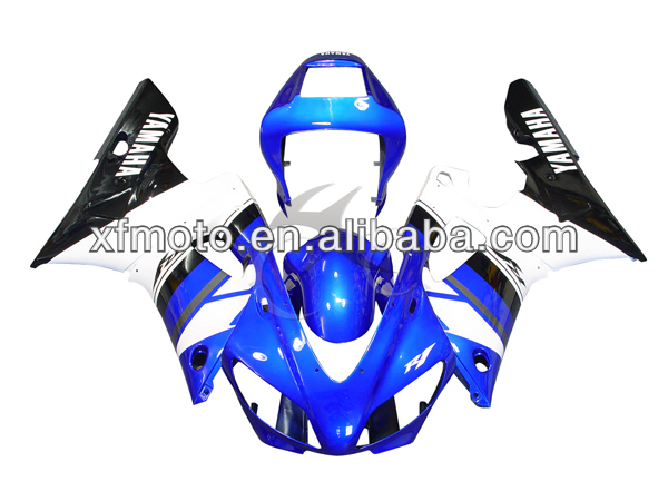For 98-99 Yamaha YZFR1 YZF-<strong>R1</strong> Blue & Black Injection Plastic <strong>Fairing</strong> Body Work