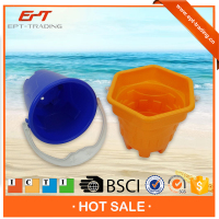 Small size kids plastic small beach buckets for sale
