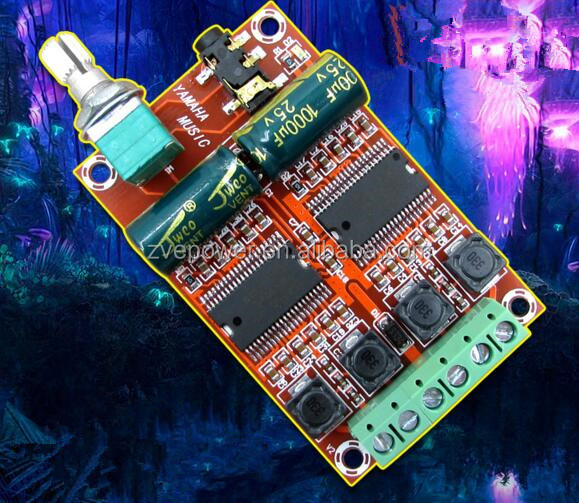 M531 2*20w digital Audio amplifier board support dc 12-15v Dual-core chipset D class