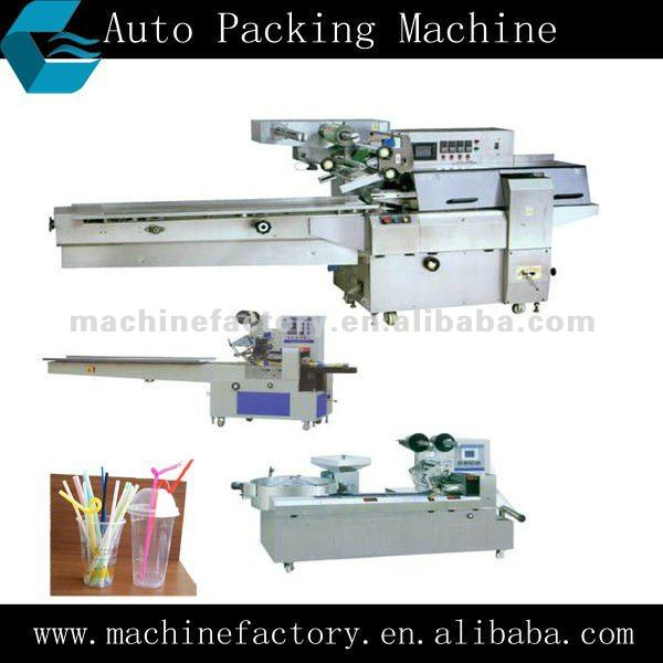 KCX Auto Straw Pillow Plastic Bag Packing Machine