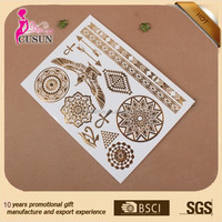 large size, Body Jewelry Foil gold tattoo