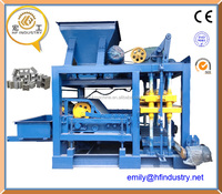QT5-25 fully automatic interlock lego concrete hollow block making machine
