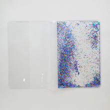 2017 new liquid glitter plastic book cover