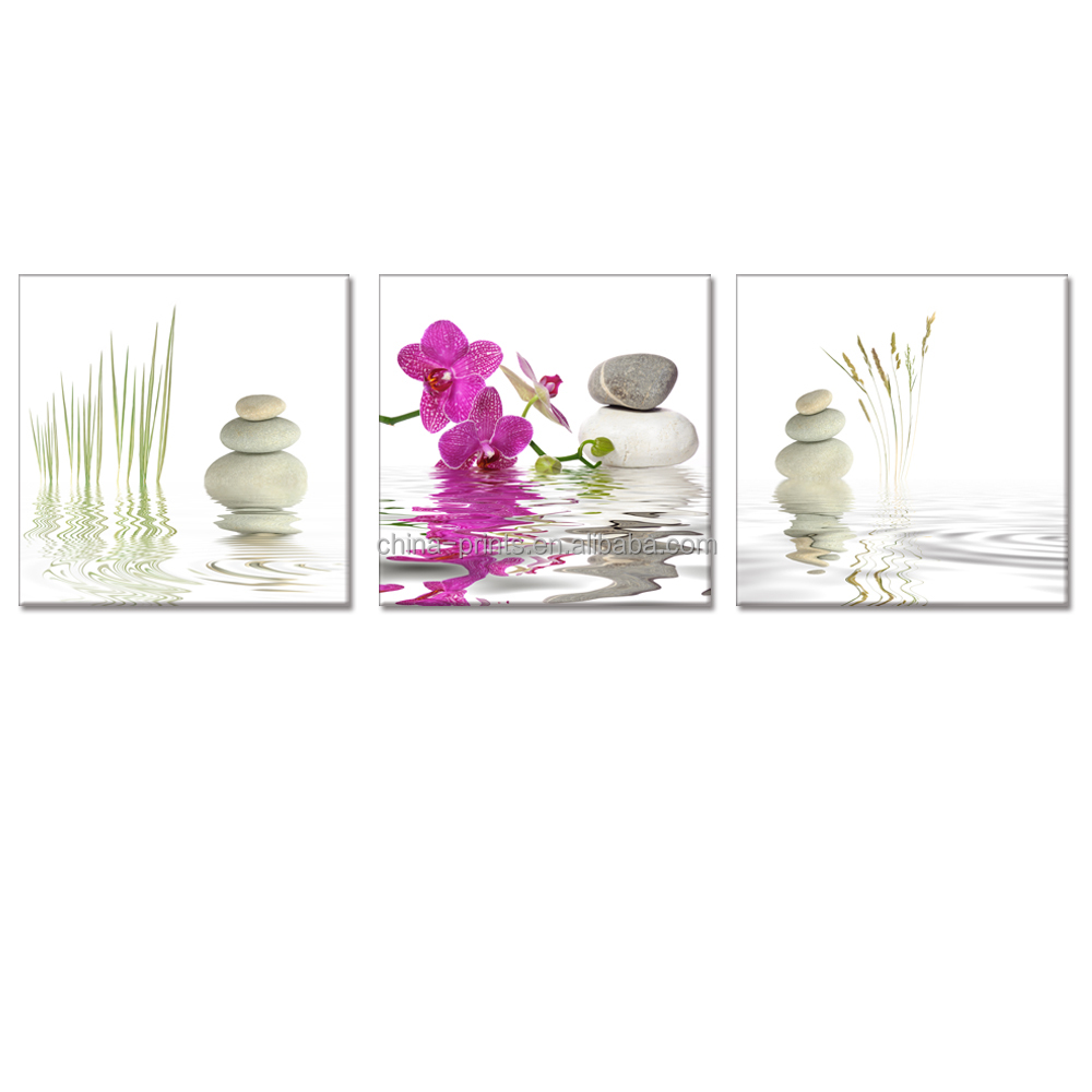 Still Life Canvas Wall Art Orchid Reflect On Water Zen