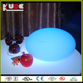 RGB glowing led battery rechargeable waterproof decorative floating flat led pool balls