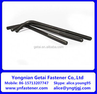 Grade 4.8 50MM Diameter Steel Anchor Bolt Black Oil Finish