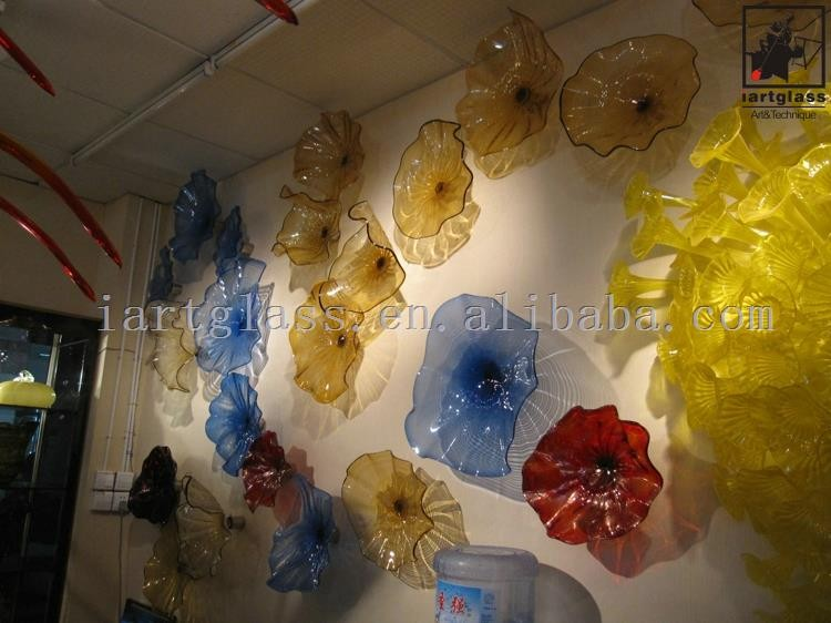 Antique Home Decorative Blown Glass Wall Art Plates