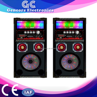 flashing lights retangular amplifier speaker, high power FM antenna input amplifier, Remote control karaoke amplifier